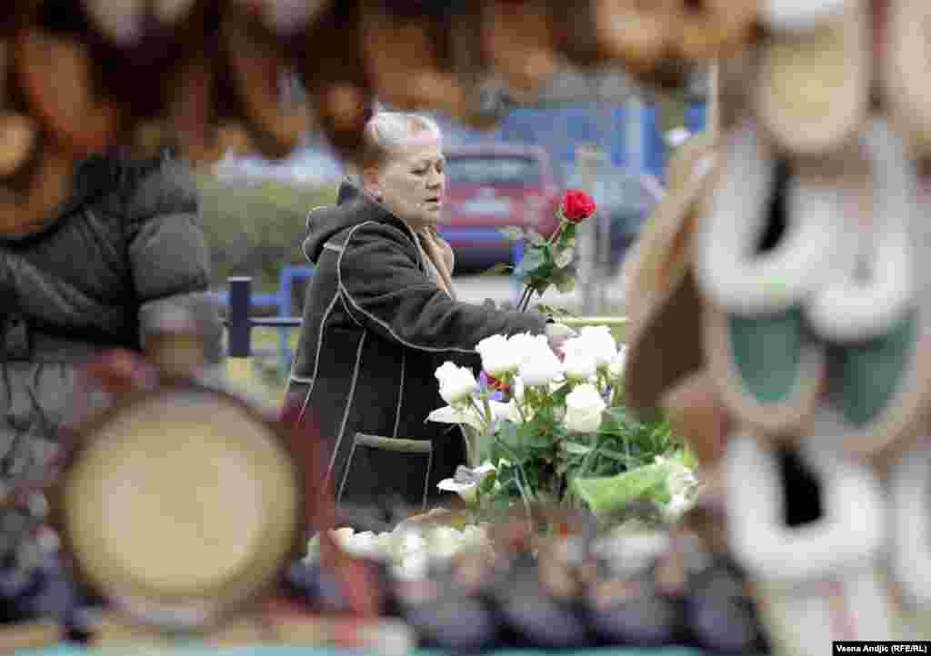 Another flower seller in Belgrade, Serbia