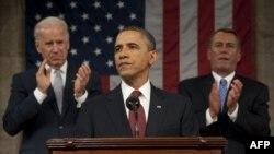 ԱՄՆ-ի նախագահ Բարաք Օբաման Կոնգրեսում հանդես է գալիս ամենամյա ուղերձով, արխիվ
