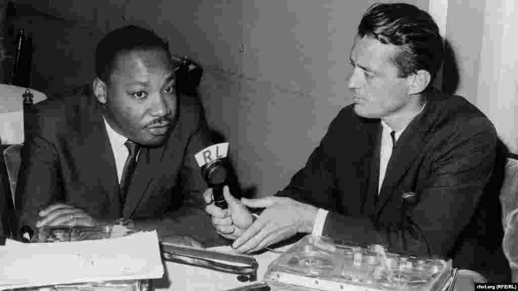 Radio Liberty Editor Francis Ronalds interviews U.S. civil rights leader Martin Luther King Jr. in 1966. - Radio Liberty Editor Francis Ronalds interviews U.S. civil rights leader Martin Luther King Jr. in 1966 about the on-going fight for equal rights in America.