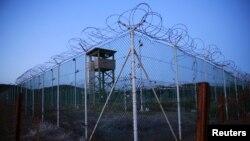Гуантанамо әскери базасындағы түрме, Куба (Көрнекі сурет).