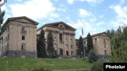 Armenia -- The parliament building in Yerevan.