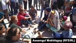 Матери продолжают мирную акцию протеста. Нур-Султан, 3 июня 2019 года.