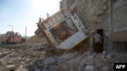 Ruševine u Alepu nakon vazdušnih udara