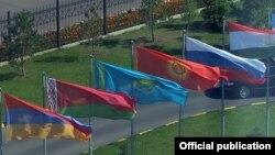 Флаги государств-членов ОДКБ.