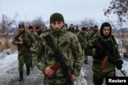 """Чеченские """"добровольцы"""", воюющие на стороне пророссийских сепаратистов в Донбассе в составе батальона """"Смерть"""". Декабрь 2014 года"""