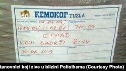 Zabilježeno u krugu tvornice Poliolhem, Tuzla