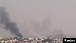 یکی از حملات اخیر نیروهای بشار اسد به شهر حمص در سوریه.