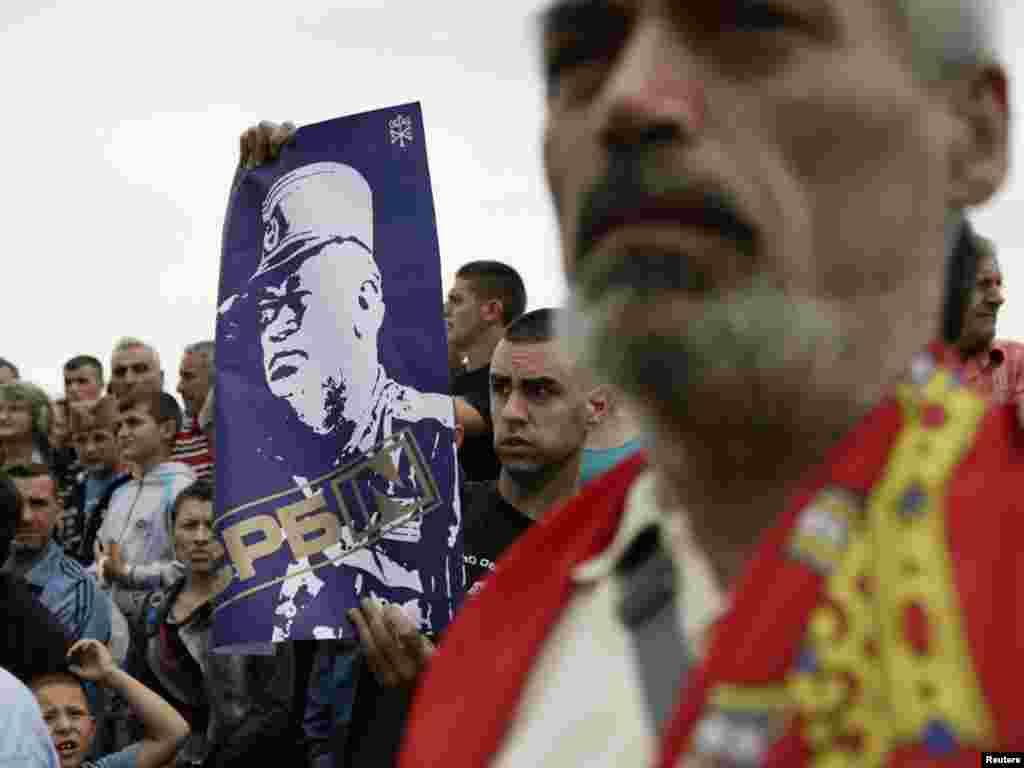 Serbs mark the anniversary of the 1389 Battle of Kosovo Polje in Gazimestan in 2011.