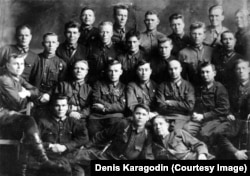 Agents and cadets of the Novosibirsk branch of the NKVD in the 1930s.