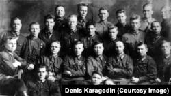 Sovet NKVD məktəbinin kursantlar Novosibirsk, 1930