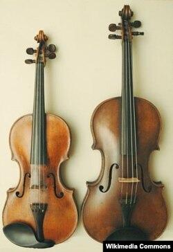 Альт (оңдо), скрипка (солдо).