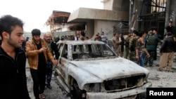 Ирактың Киркук қаласында жарылыс болған жерде. 30 қаңтар, 2015 жыл.
