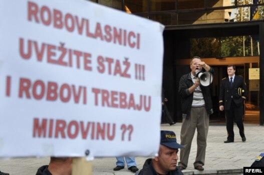 Jedan od radničkih štrajkova u Sarajevu, foto iz arhive: Midhat Poturović