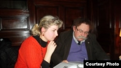 Натальля Гардзіенка і Альгерд Абрамчык