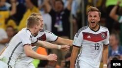 Дөнья футбол беренчелеге финалының бердәнбер тубын керткән Марио Герценың (У) шатлыгы