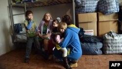 Иллюстративное фото. Переселенцы в Славянске. Март 2015 года