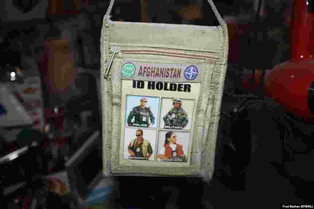 """Besides food products, the """"Obama Bazaar"""" sells American military gear and equipment."""