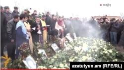 Похороны шестимесячного Сережи Аветисяна, 21 января 2015 г.