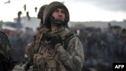 Боєць Національної гвардії України під час АТО