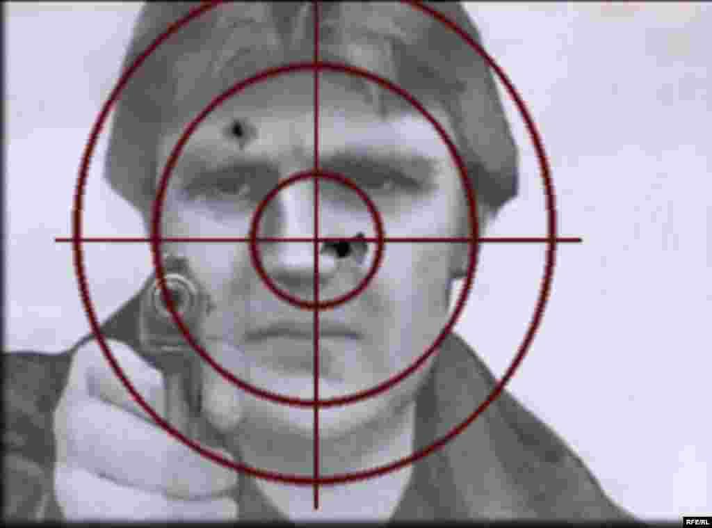 """Фото Александра Литвиненко использовалось в центре """"Витязь"""" в качестве мишени."""
