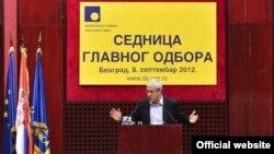 Boris Tadić na sednici Glavnog odbora DS-a, 8. septembar 2012.
