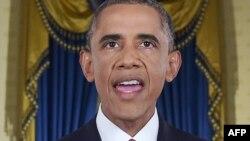 Барак Обама выступает с обращением 10 сентября 2014 года