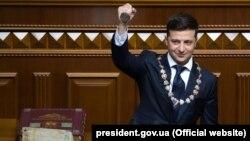 La ceremonia de inaugurare a președintelui Ucrainei, Volodimir Zelenski