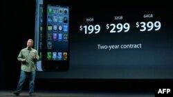 iPhone 5 смартфонының таныстыру рәсімі. Сан-Франциско, 12 қыркүйек 2012 жыл.