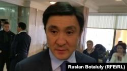 Қазақстан футбол федерациясының президенті Ерлан Қожағапанов. Астана, 21 қараша 2015 жыл.
