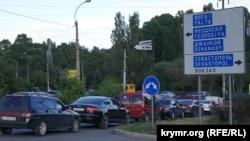 Затори на дорогах у Сімферополі, архівне фото