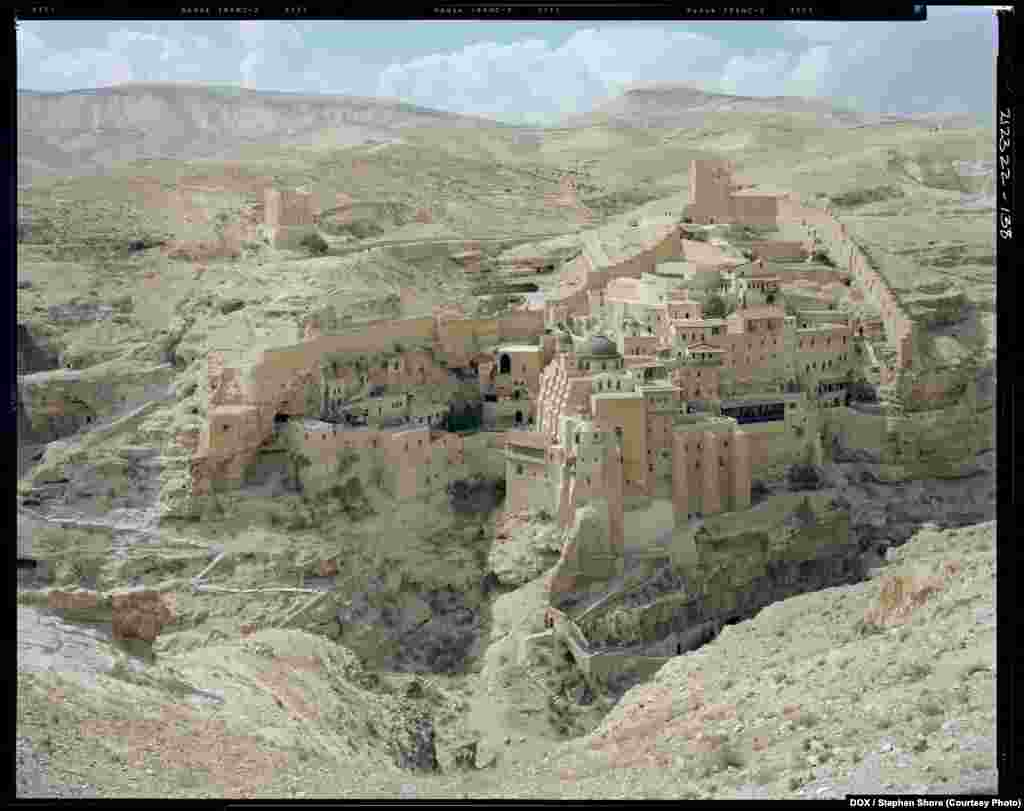 Stephen Shore, St. Sabas Monastery, Judean Desert, 2009   Stephen Shore will present a selection of color works (captured with his signature 8-by-10-inch negative camera) that offer clear and astutely observed facets of contemporary Israel and visual manifestations of its divisions and histories.