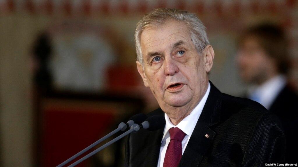 Czech President Milos Zeman File Photo