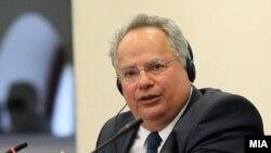 Никос Косијас - министер за надворешни работи на Грција