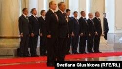Президенты России и Казахстана в Астане 15 октября 2015 г.