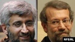 علی لاریجانی و سعید جلیلی، دبیران سابق و جدید شورای عالی امنیت ملی ایران
