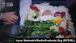 Церемонія прощання з проросійським журналістом Олесем Бузиною, Київ, 19 квітня 2015 року