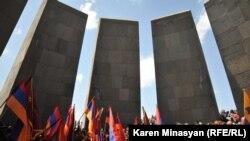 Armenian Genocide Memorial, Tsitsernakaberd, in Yerevan