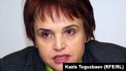 Заместитель главного редактора медиа-группы «Республика» Оксана Макушина. Алматы, 5 декабря 2011 года.