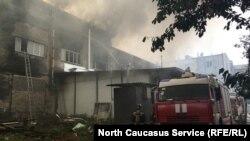 Пожар во Владикавказе на улице Доватора, 2 августа 2019 г.