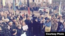 Акция памяти Бориса Немцова в Лондоне