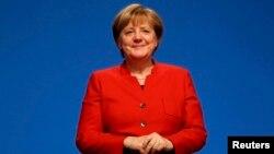 Германия канцлері Ангела Меркель Христиан-демократиялық одағы партиясының съезінде. Эссен, Германия, 6 желтоқсан 2016 жыл.