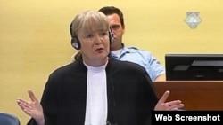 Vasvija Vidović tokom odbrane Nasera Orića u Haškom tribunalu