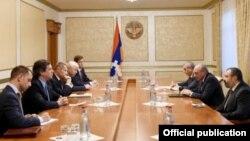 Бако Саакян принимает сопредседателей Минской группы ОБСЕ, 30 октября 2018 г․