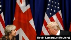 Theresa May şi Donald Trump