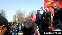 Митинг в поддержку Садыра Жапарова в Бишкеке. 25 марта 2017 года