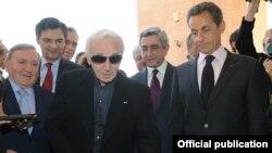 Շարլ Ազնավուրի կեցավայր-թանգարանի բացումը Երեւանում, 7-ը հոկտեմբերի, 2011թ.