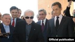 Открытие дома-музея Шарля Азнавура в Ереване, 7 октября 2011 г.