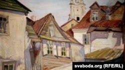 Зыгмунт Буйноўскі: «Старая Горадня», 1927 году, фрагмэнт карціны