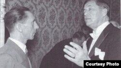 Cu Josef Goebbels, ministru german al propagandei, în 1943