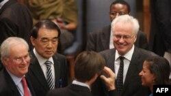 نمایندگان پنج عضو دائم شورای امنیت که همگی به قطعنامه علیه ایران رأی مثبت دادند